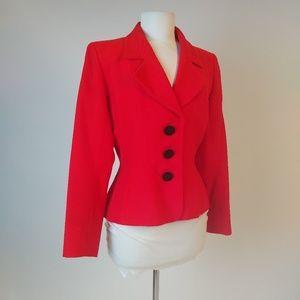 Vintage Yves Saint Laurent Rive Gauche Red Blazer